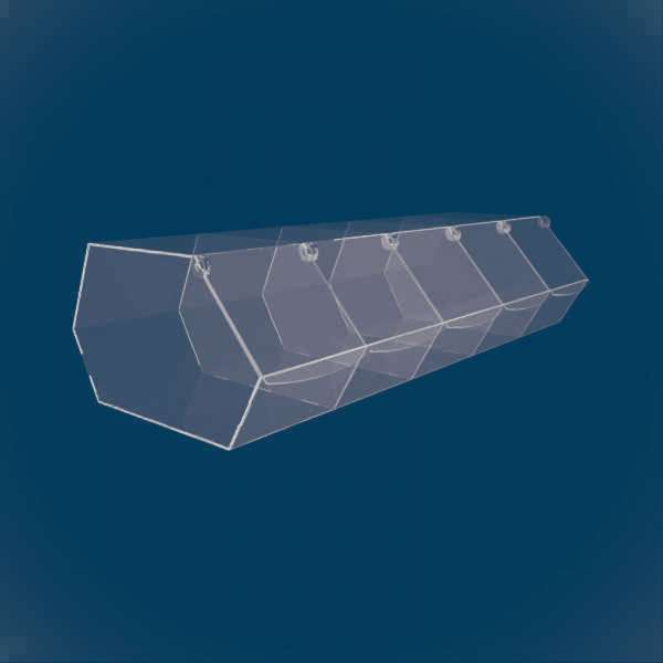 Диспенсер шестиугольный из 5 секций