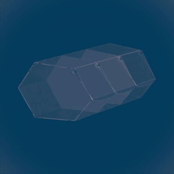 Диспенсер шестиугольный из 3 секций