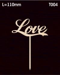 Топпер для букета и торта «Love»