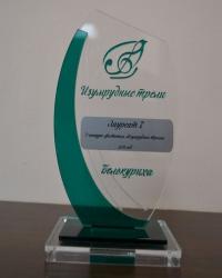 Наградной кубок из прозрачного и цветного оргстекла