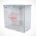 Ящик из прозрачного оргстекла со съемной крышкой 200*200*100