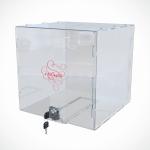 Ящик из прозрачного оргстекла с замком 200*200*200