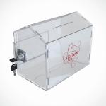 Ящик из прозрачного оргстекла с замком 300*200*200