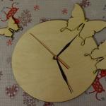 "Часы ""Бабочки"" для декупажа"
